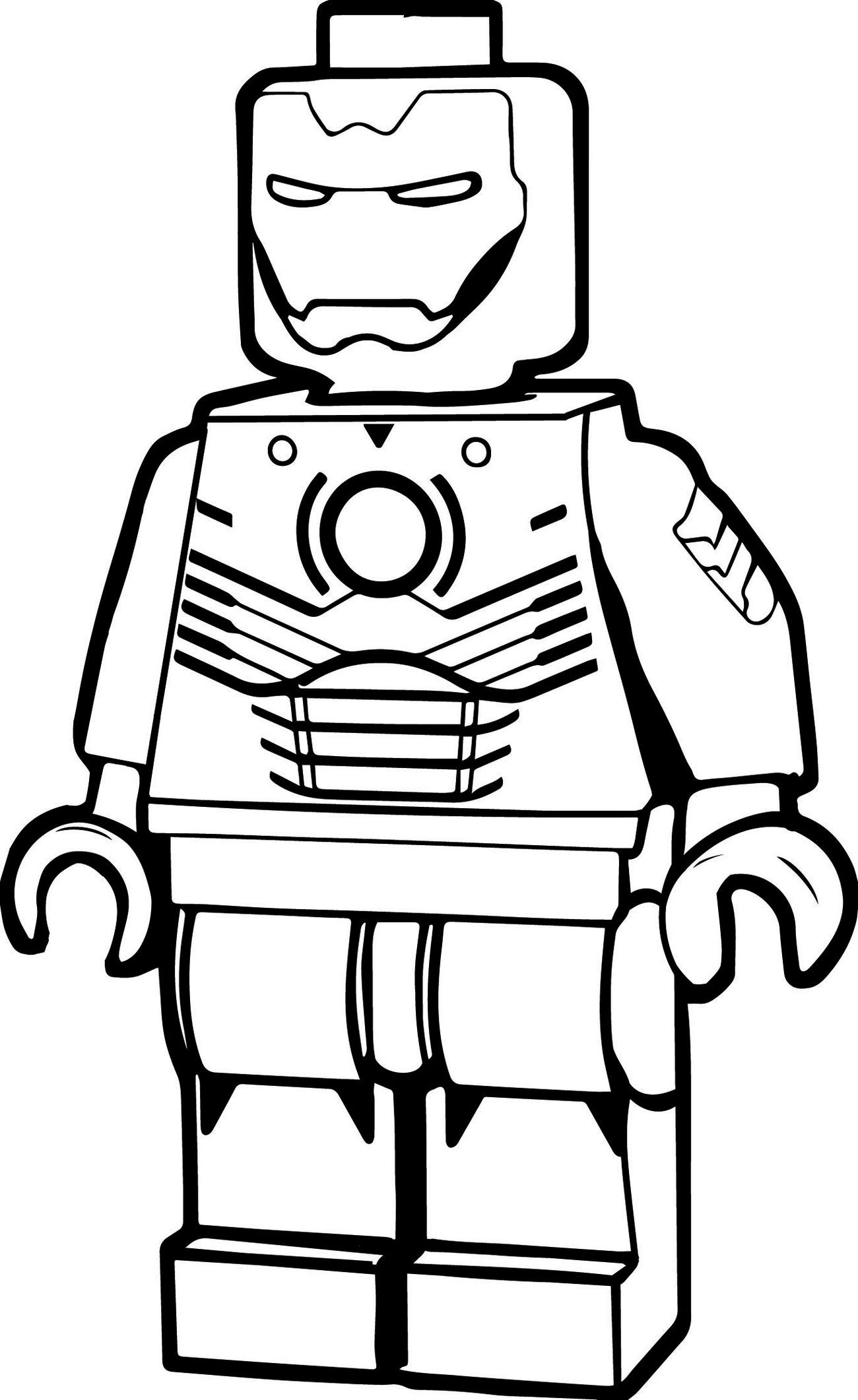 1300x2122 Lego Iron Man Coloring Pages