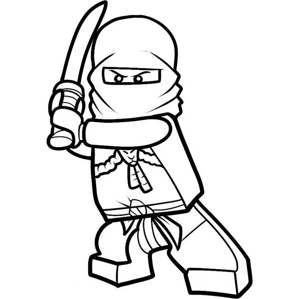 600x600 Lego Ninja Go Kai Drawing His Sword Coloring Pages Batch Coloring