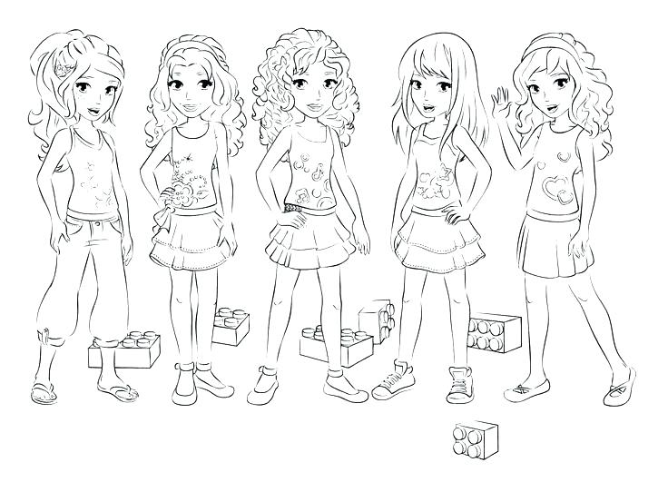 736x531 Amazing Lego Friends Coloring Page Kids Coloring Pages