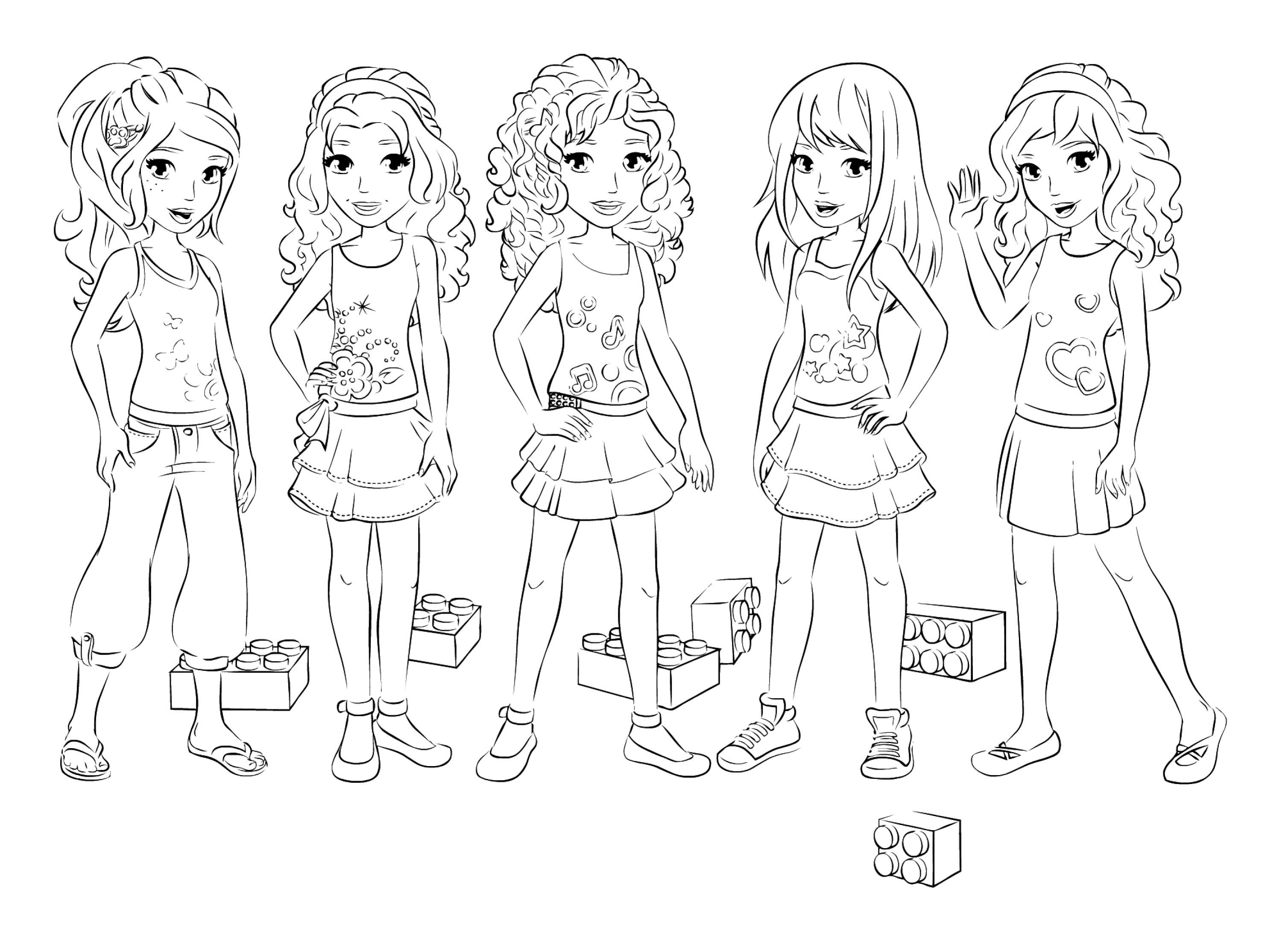 3016x2179 Lego Friends All Coloring Page For Kids Best Of Girl Lego Coloring