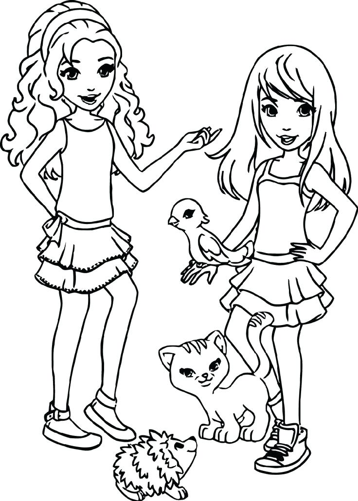 736x1031 Best Of Lego Friends Coloring Pages Images Friends Coloring Pages