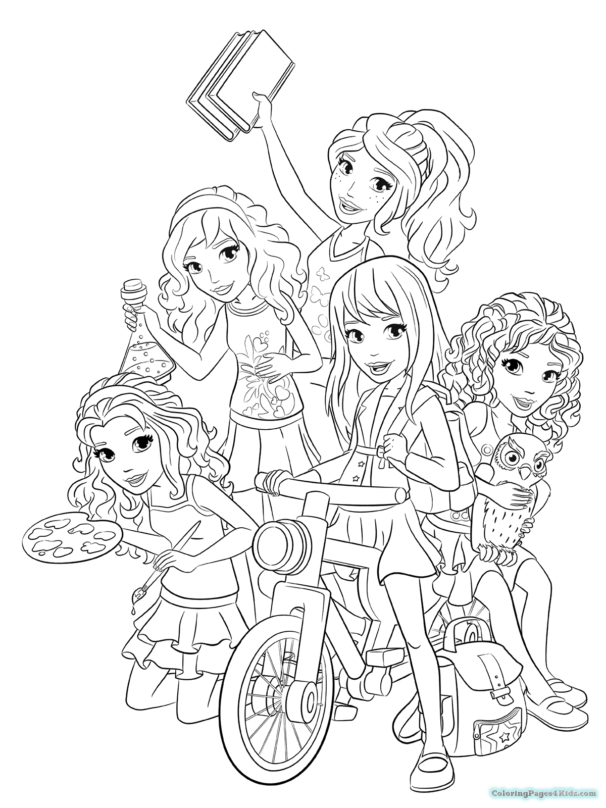 1200x1600 Lego Friends Coloring Pages And Girls And Livi Coloring Pages