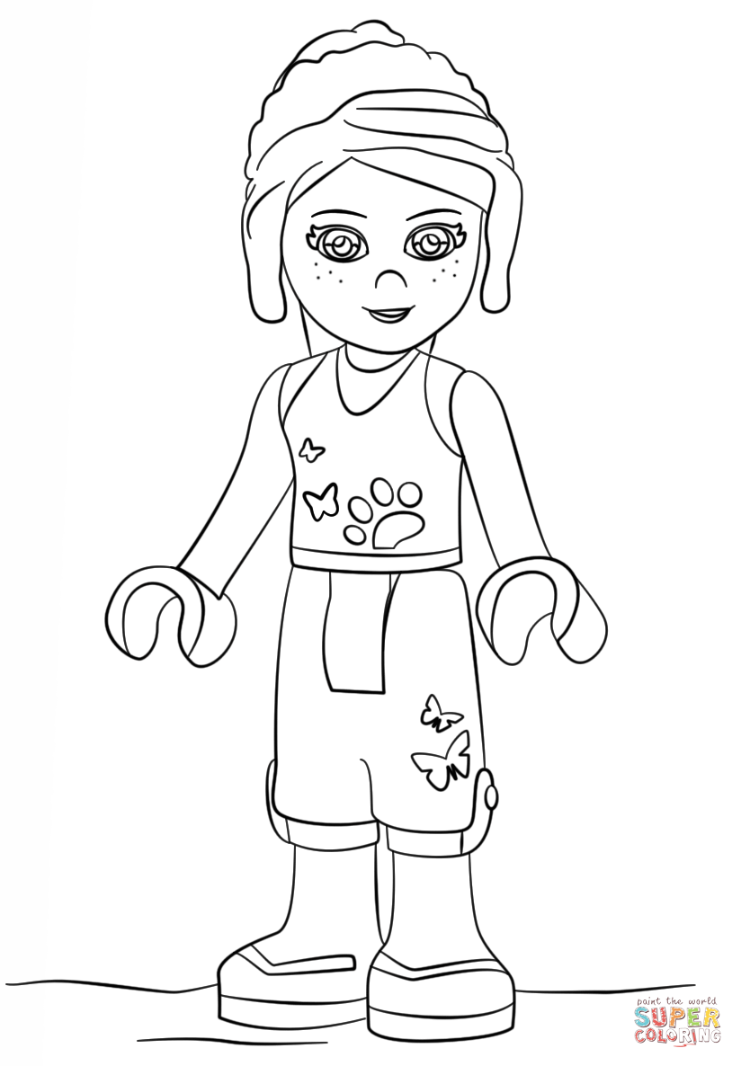 824x1186 Lego Friends Mia Coloring Page Free Printable Coloring Pages