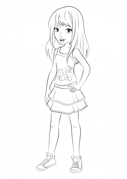 418x591 Lego Friends Stephanie Coloring Pages