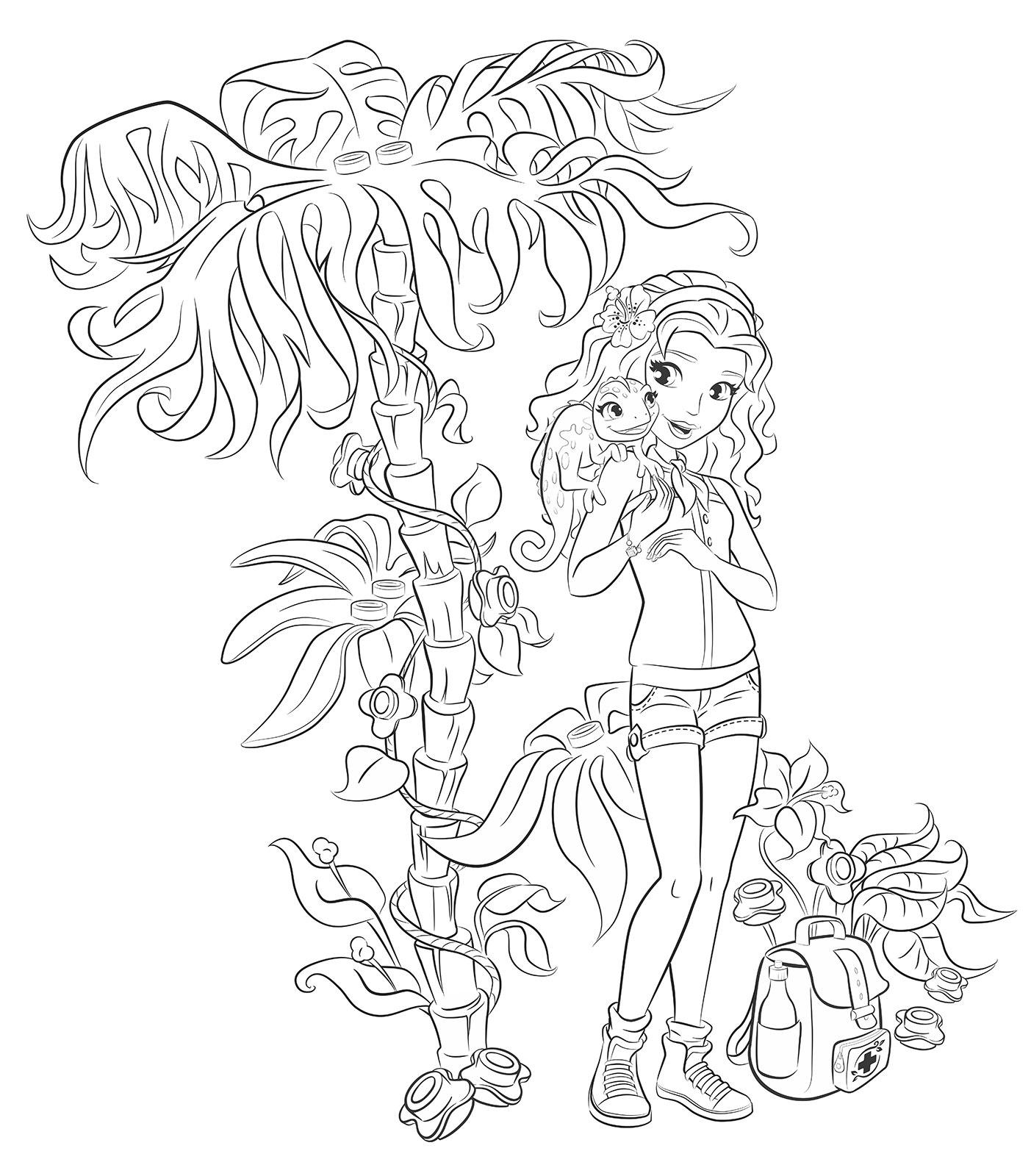 1403x1600 Emma From Lego Friends Colouring Pages Party Time