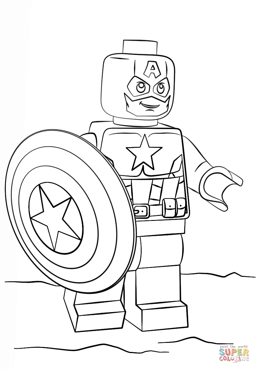 824x1186 Lego Captain America Coloring Page Free Printable Pages