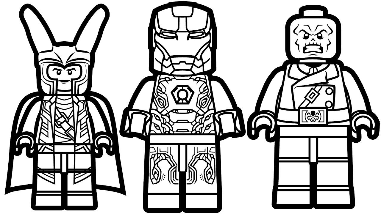 1280x720 Red Skull Coloring Pages Fresh Lego Iron Man Vs Lego Loki Vs Lego