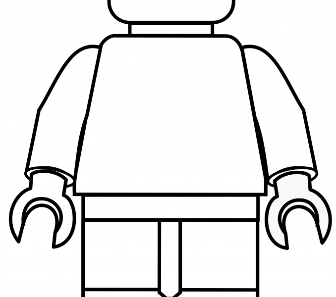 678x600 Lego Figure Coloring Pages Kids Coloring