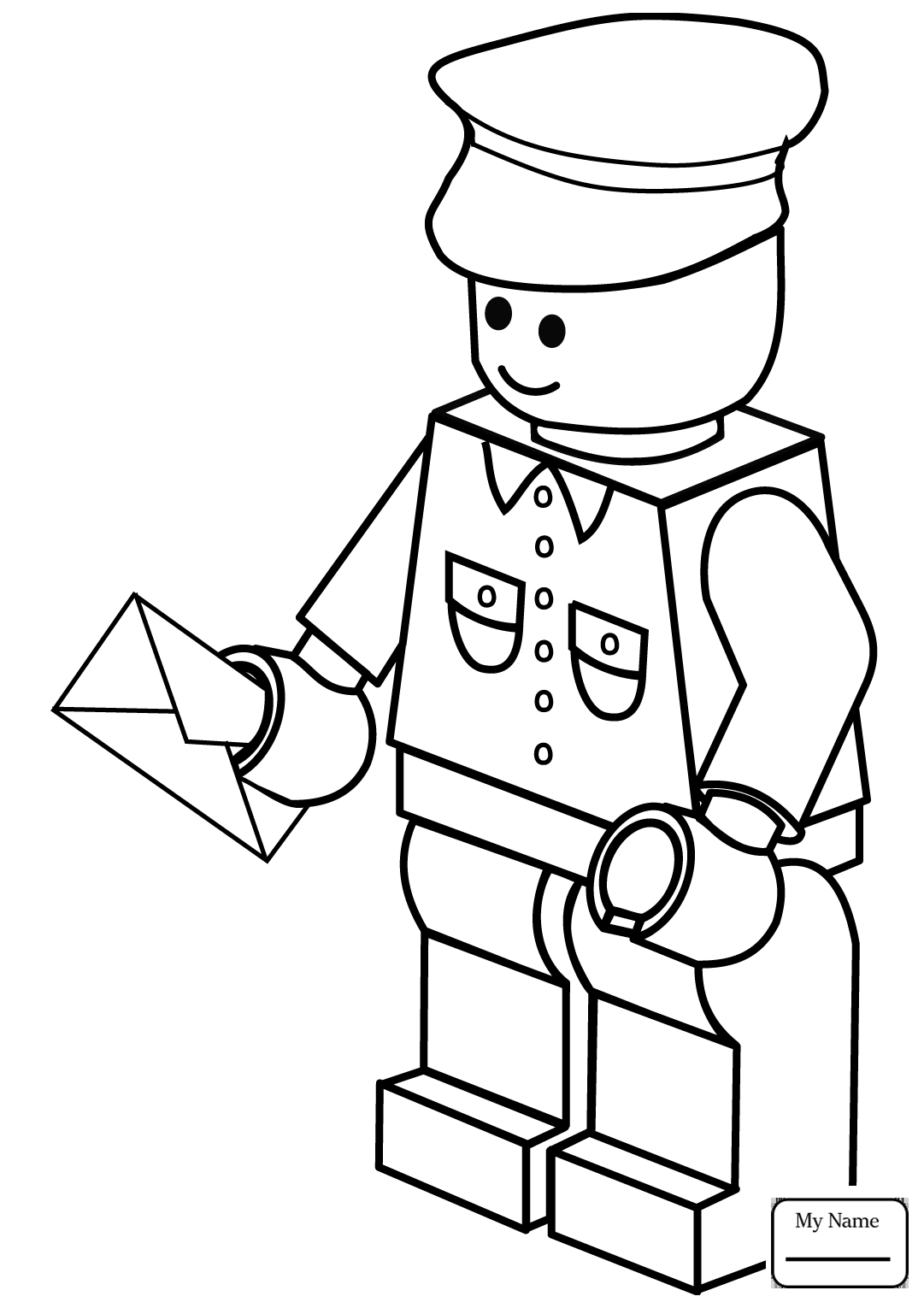 Lego Man Drawing at GetDrawings