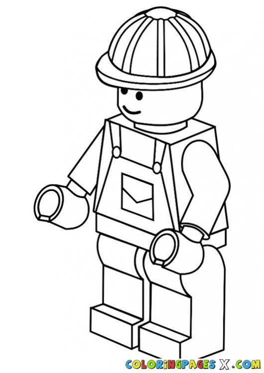 530x748 Lego Man Coloring Page 197 Tangles Lego Men And Lego