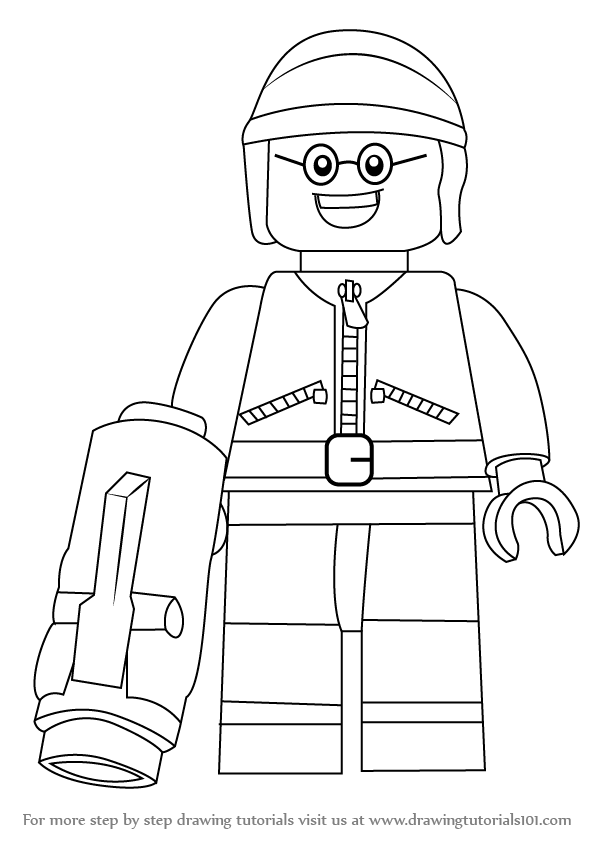 598x845 Learn How To Draw Good Cop From The Lego Movie (The Lego Movie
