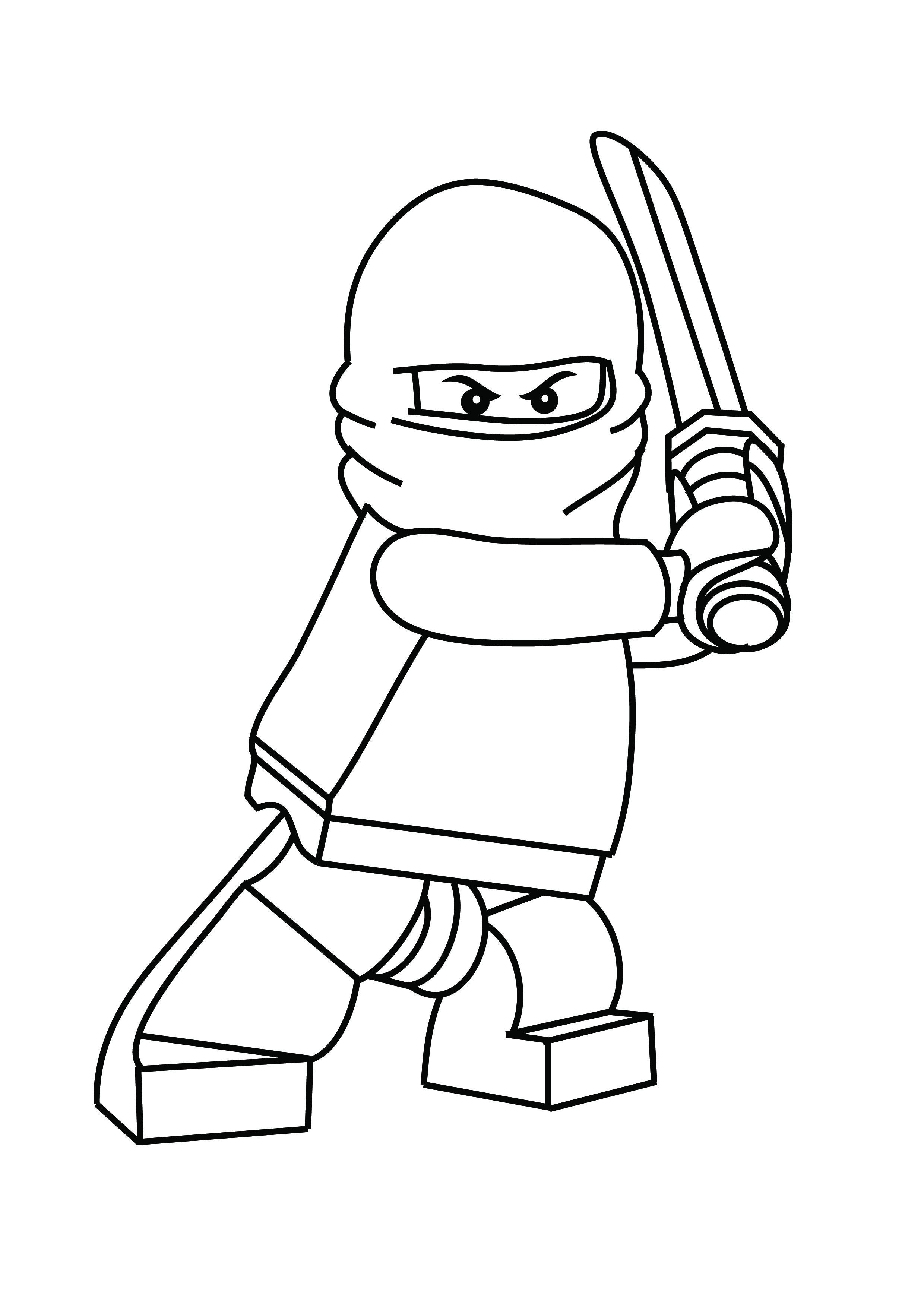 2480x3508 Lego Man Coloring Page