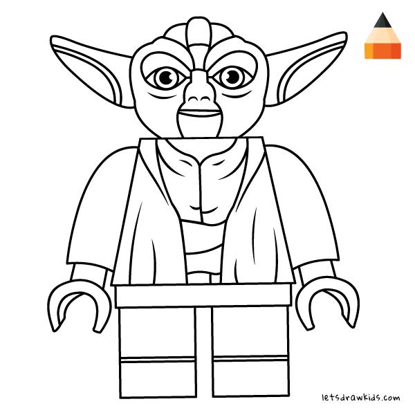 600x600 How To Draw Lego Yoda