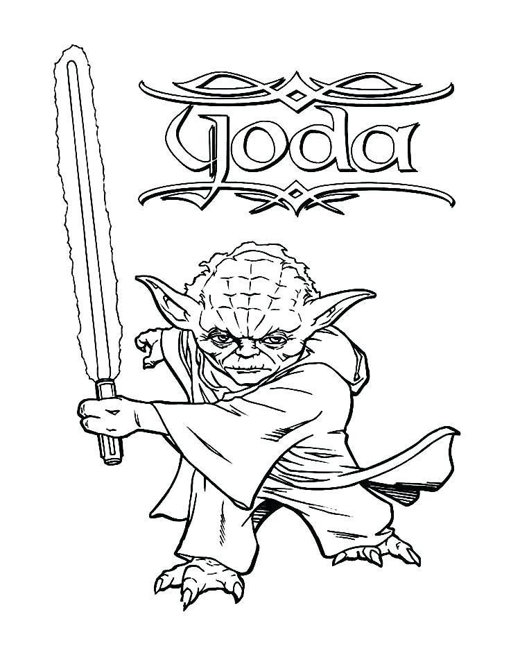 750x941 Yoda Coloring Page Cortefocal.site