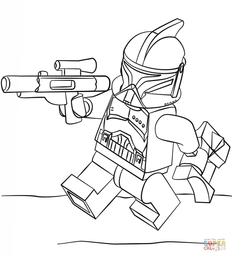 809x895 Lego Clone Trooper Super Coloring Lineart Star Wars