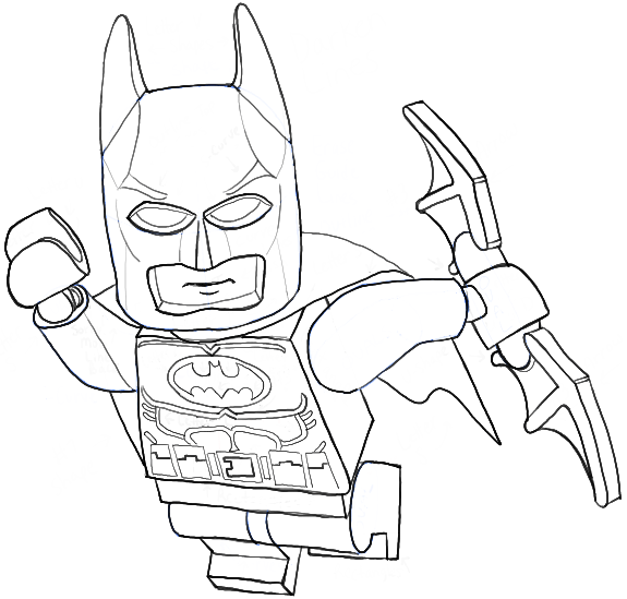 575x549 How To Draw Lego Batman Minifigure With Easy Step By Step Drawing