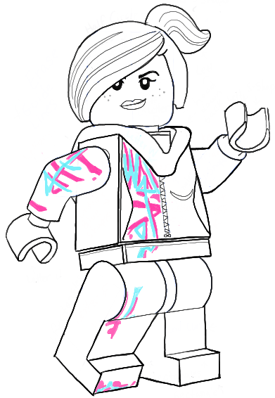 391x566 How To Draw Wyldstyle From The Lego Movie Aka Lucy The Minifigure