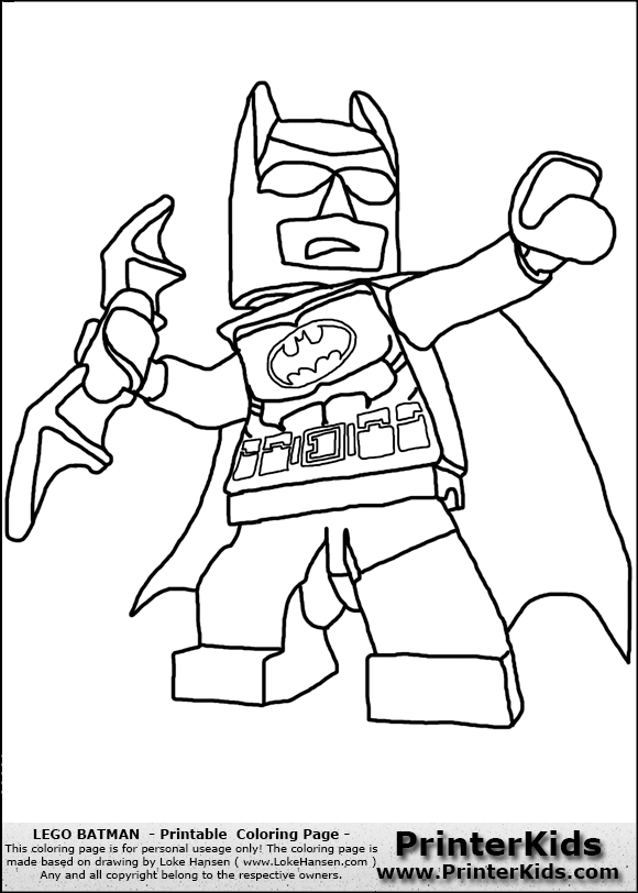 580x812 Lego Batman Lokehansen Printable Coloring Sheet ( 12094