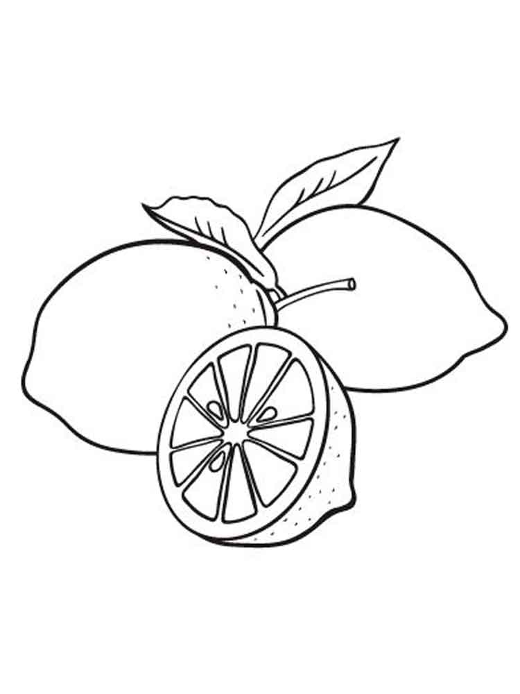 750x1000 Lemon Coloring Pages. Download And Print Lemon Coloring Pages.