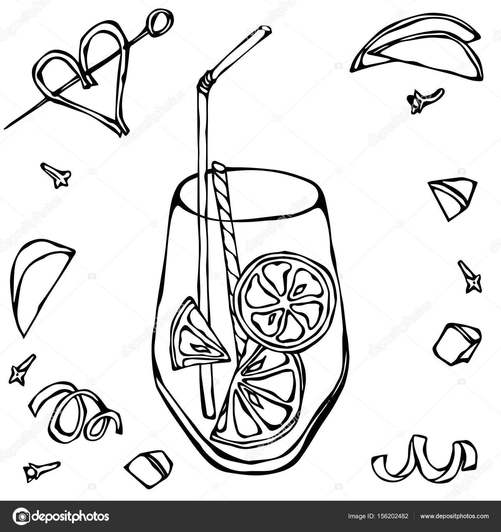1600x1700 Glass Of Lemonade With Lemon Slice And Cocktail Tube. Realistic