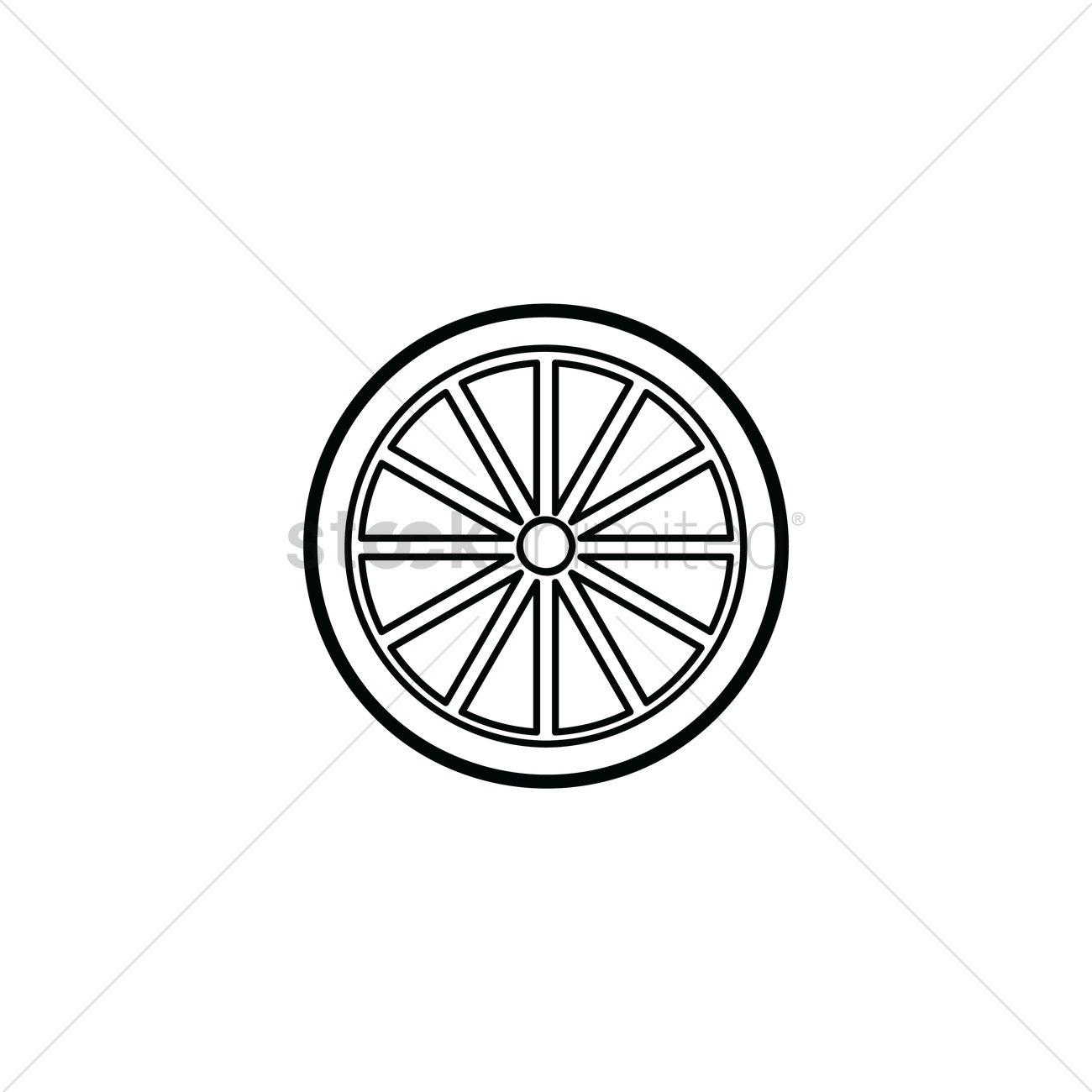 1300x1300 Lemon Slice Vector Image