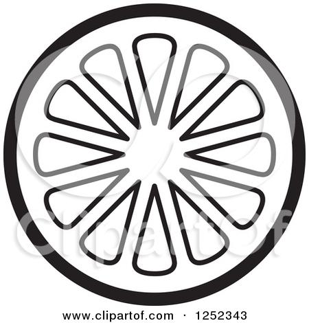 450x470 Lemon Slice Clip Art Black And White