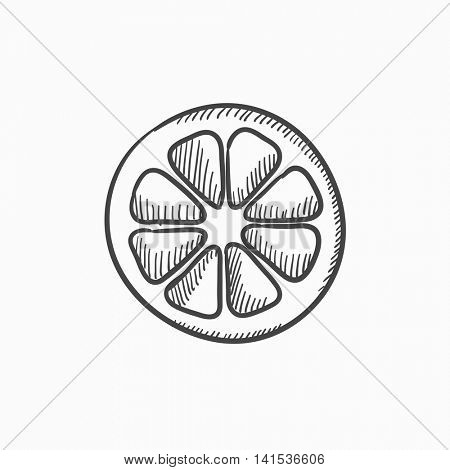 450x470 Slice Lemon Vector Sketch Icon Vector Amp Photo Bigstock