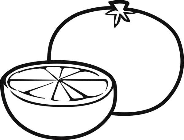 600x455 Fruits And Vegetables Slice Fresh Lemonlime Coloring Page Bebo
