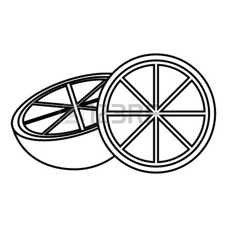 450x450 Lemon Wedges Icon Image Vector Illustration Design Royalty Free