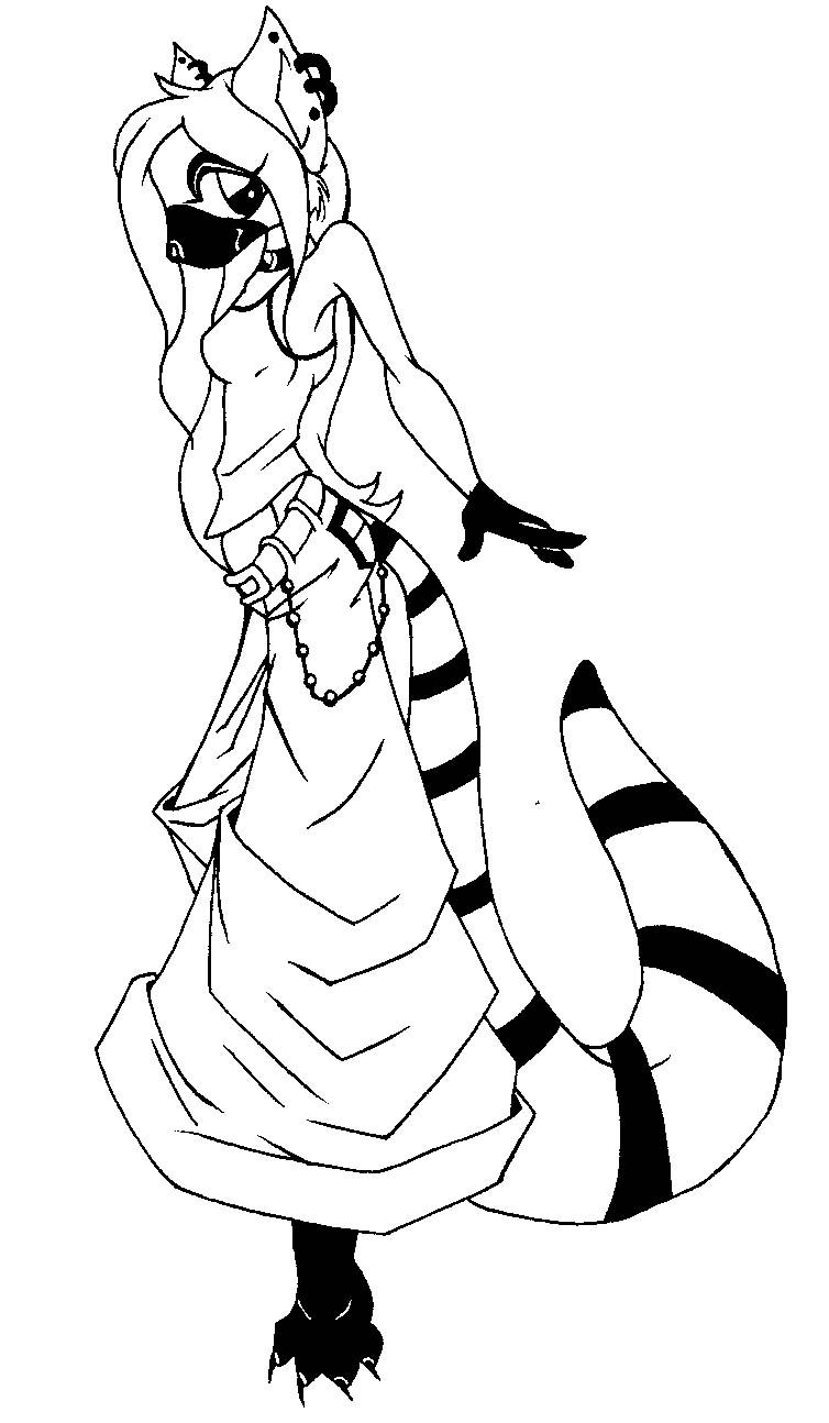 754x1294 Ring Tailed Lemur Drawing Ring Tailed Lemur By Fataljuice