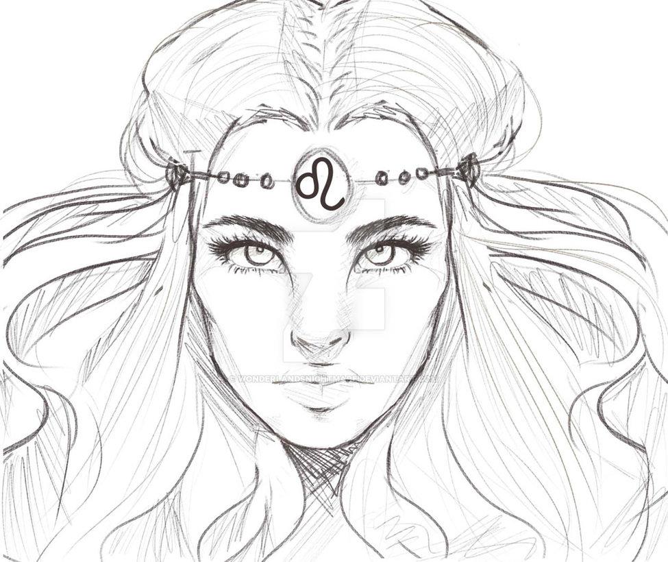 975x820 Horoscope Drawing Leo By Wonderlandsnightmare