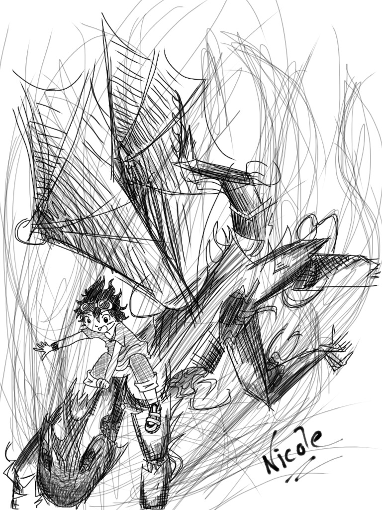 768x1024 Leo Valdez And Festus The Dragon. By Junicole