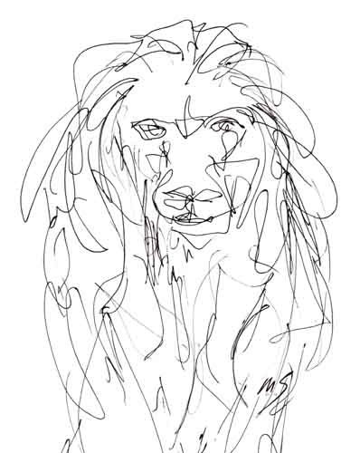 398x500 Pen And Ink Drawing Leo Lion By Mark Scribbler