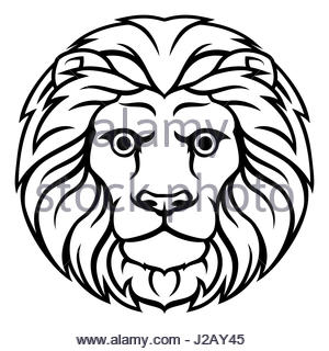 300x320 Drawing Of The Leo Zodiac Sign Stock Photo 31431480