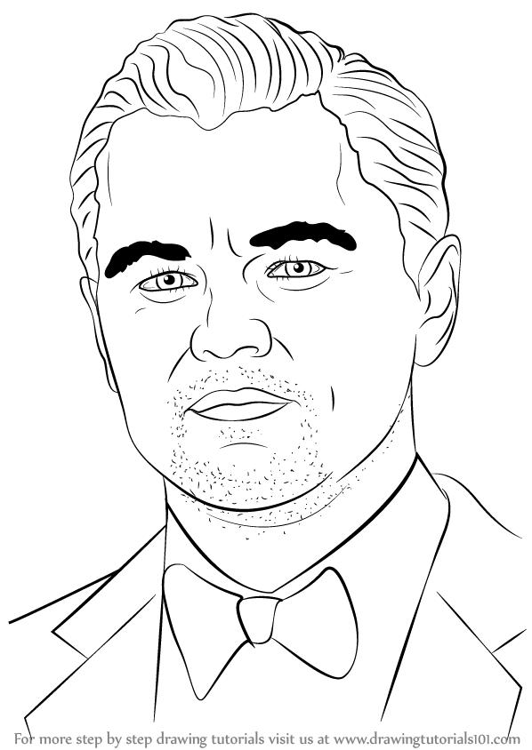 598x844 Learn How To Draw Leonardo Dicaprio (Celebrities) Step By Step