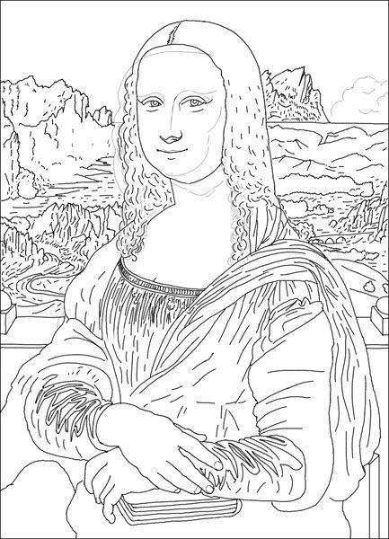 best Dibujo Mona Lisa Para Imprimir image collection