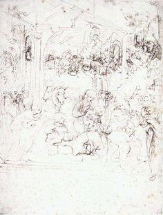 236x311 Leonardo Da Vinci Drawing Classical Artworks