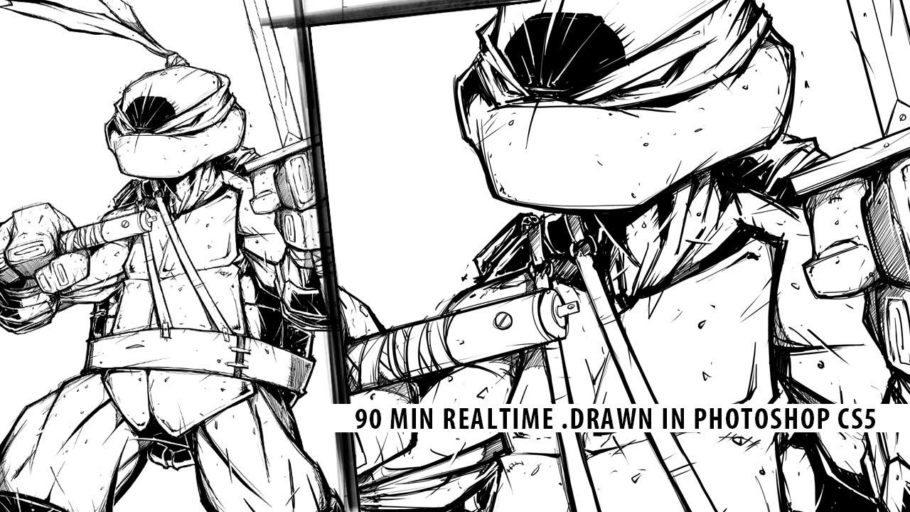 1280x720 Speed Drawing Teenage Mutant Ninja Turtles