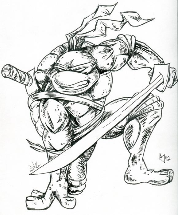 580x698 Tmnt Leonardo Sketch By Atlantajones