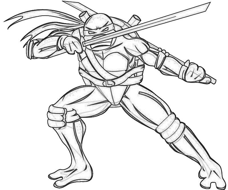 800x667 Leonardo Ninja Turtle Coloring Page Raphael Ninja Turtle Coloring