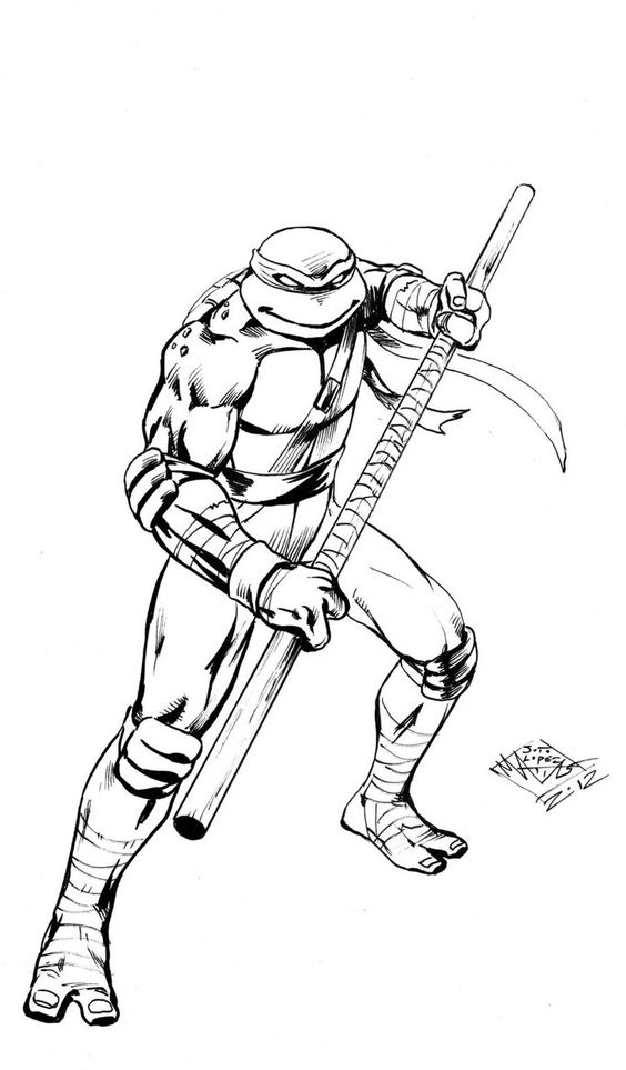 564x963 Ninja Turtle Leonardo Coloring Page Free Download