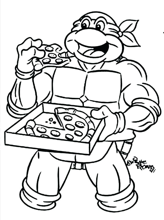 671x902 Ninja Turtles Raphael Coloring Pages