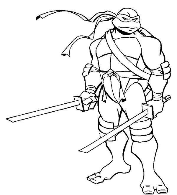 600x662 Ninja Turtles Coloring Pages Michelangelo