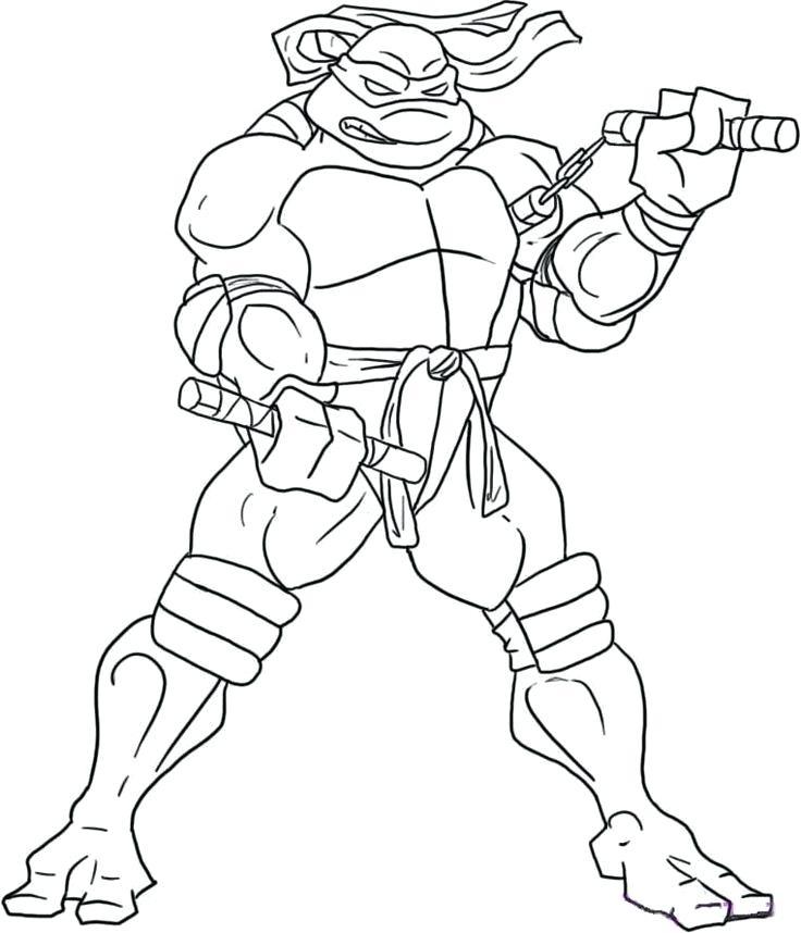 736x858 Coloring Pages Turtles Ninja Ninja Turtles Coloring Page Coloring