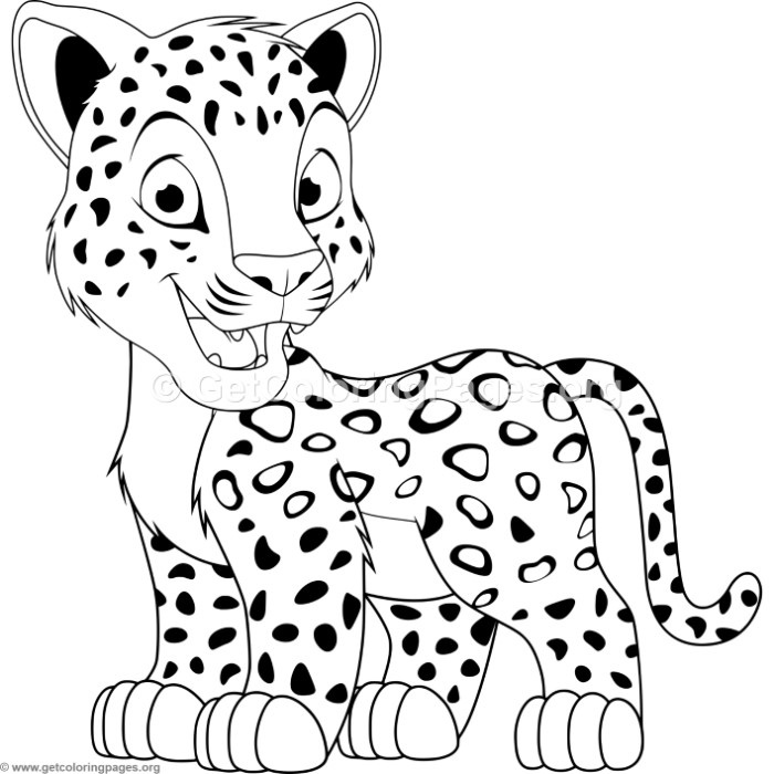 700x700 Cartoon Baby Leopard Coloring Pages