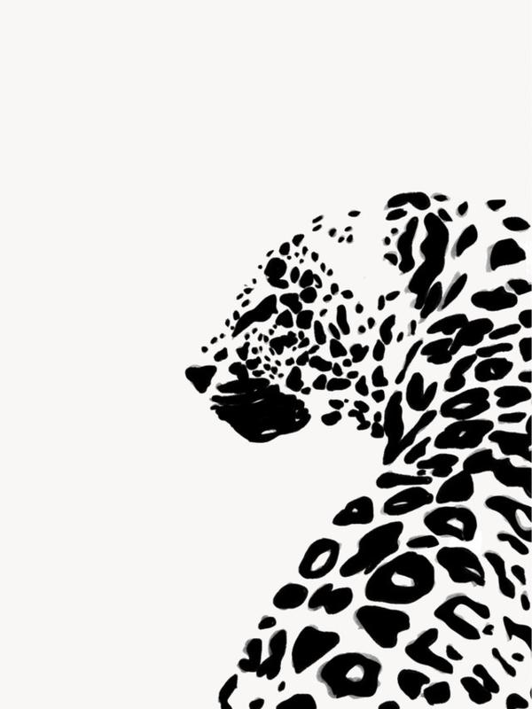 Leopard Print Drawing