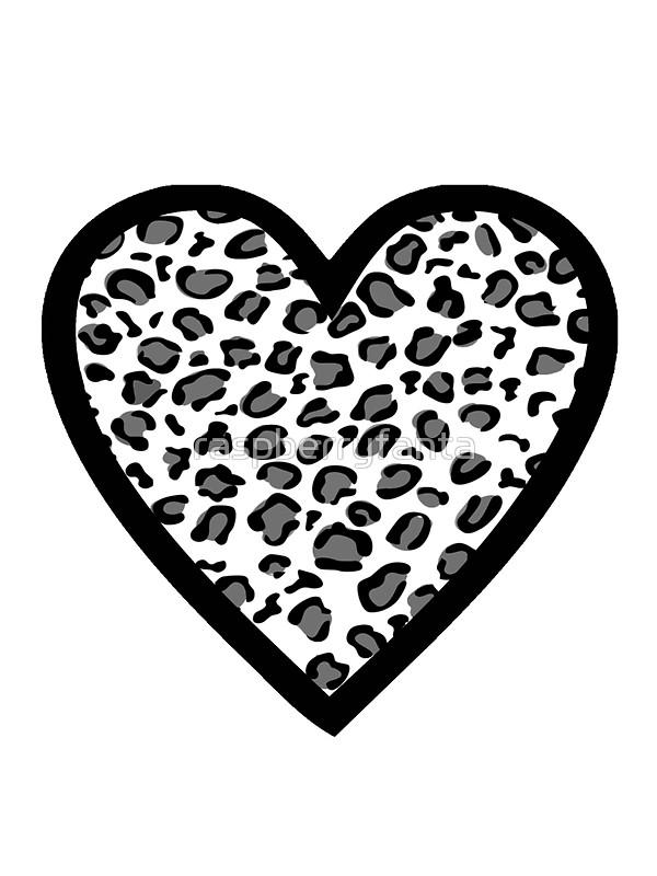 600x800 Leopard Print Heart Stickers By Raspberryfanta Redbubble
