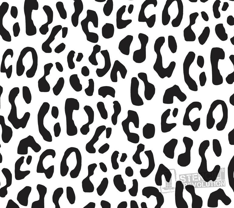 770x683 Leopard Print Stencil Printable Stencils, Stenciling And Leopards