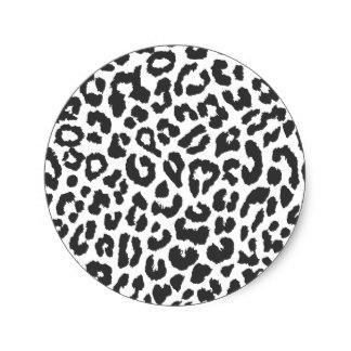 324x324 Black And White Leopard Print Stickers Zazzle