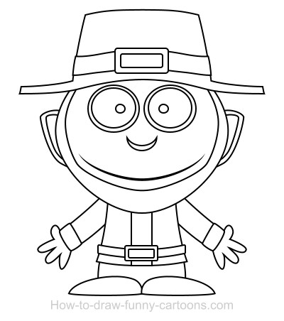 400x452 Drawing A Leprechaun Cartoon